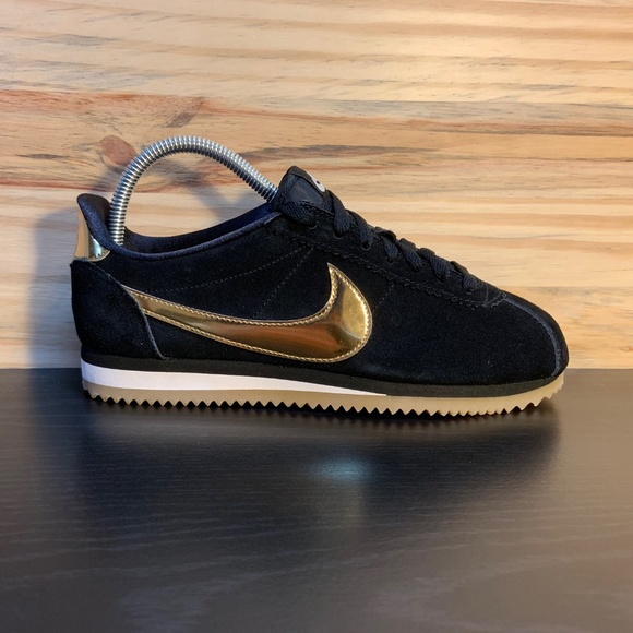 9f01be260480 New Nike Classic Cortez Suede Metallic Gold Rare